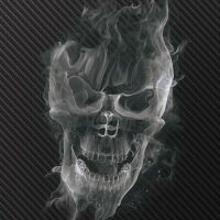 Smoke Skull Carbon - DeinDesign